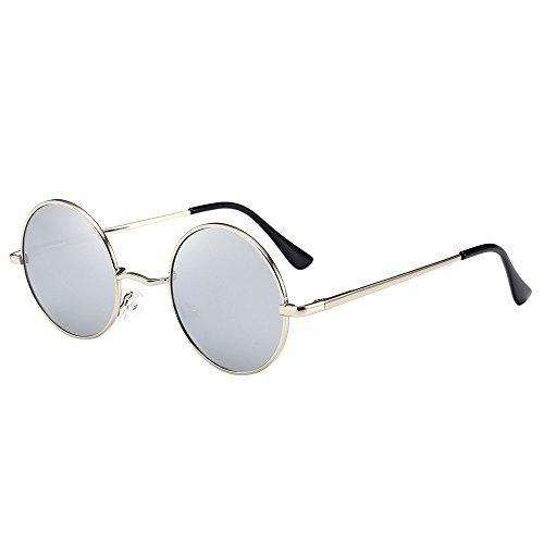 YEZIJIN Unisex Damen Herren Vintage Retro Brille Fashion Spiegel Gläser Sonnenbrille Free Size g