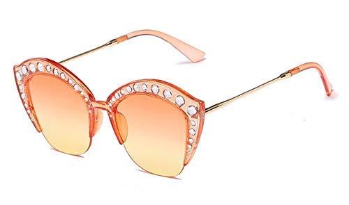 GFF 45503 Shiny Strass Cat Eye Sonnenbrille Für Frauen Transparenter Rahmen Marke Brille Designer Mode Weiblich