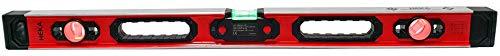HEKA Magnetische digitale LED Aluminium Wasserwaage Opto 60, 80, 100, 150, 180, 200 cm mit akustischem Signal (80 cm)