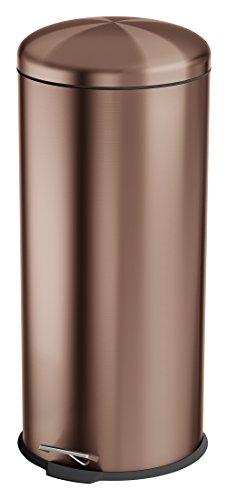 SWAN SWKA3000COPN Poubelle ménagère ronde à pédale - Couleur cuivre, 30 litres