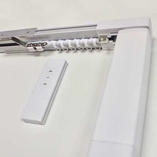 ABALON Gardinenschiene Motorisiert, Fernbedienung, Aluminium, Weiß, 1 bis 8 m, elektrische Schiene -