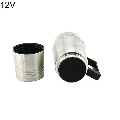 l Sicherheit Edelstahl Auto Auto Heizung Tasse Wasserkocher Wasserflasche Silber 12V ()