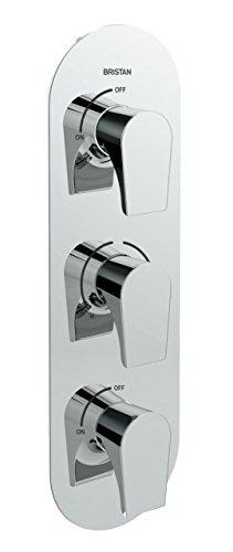 Bristan HOU SHC3STP C - Válvula de ducha empotrable de doble control...