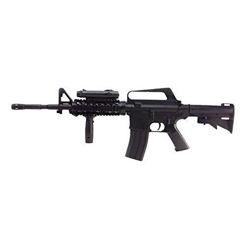 Well Airsoft AC80011 16-A4 - Rifle para Airsoft,con Muelle,de Recarga Manual (0,5 Joule) - con Accesorios