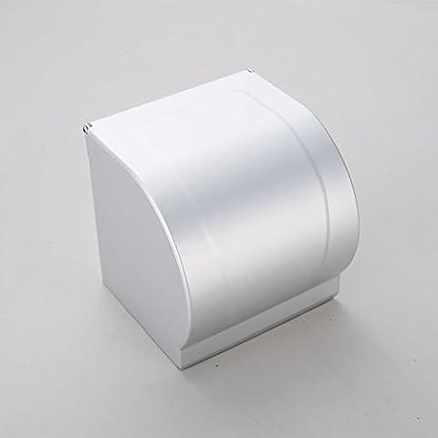 Yifom Spazio impermeabile in alluminio a spirale del tubo della carta igienica titolare,mezzo cerchio