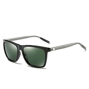 BVAGSS Polarisierte Sonnenbrille Retro Vintage Unisex Brille Mit Für Herren Und Damen 100% UV 400 Schutz (Black Frame With Blue Lens) VywIIx4m