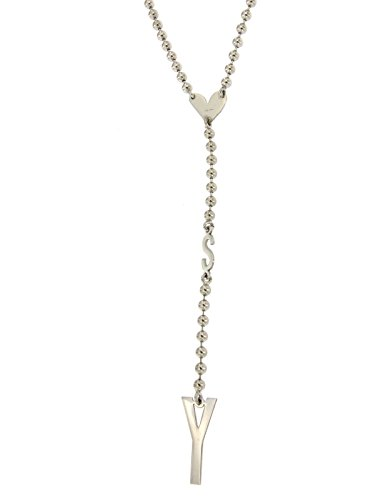 Sweet years collana donna in argento 925/000 con cuore e lettere sweet years lunghezza 62 cm + pendente 12 cm