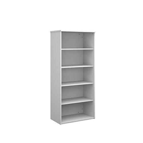 Büro Elefant oe05-r1790wh Standard Bücherregal 1790mm hoch mit einer Feste und drei Verstellbare Einlegeböden in weiß (Standard-bücherregal)