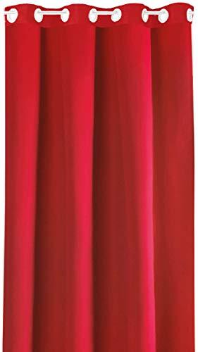Bestlivings Blickdichte Gardine mit Ösen (140x175 cm/Rot), in vielen Variationen