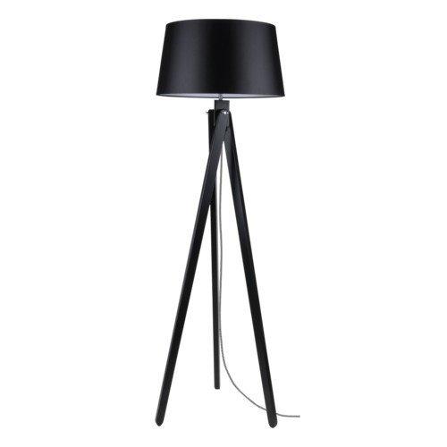 Bauhaus Stehlampe (in Schwarz, Höhe 155cm, 3 beinig, E27, Trichter-Schirm) Stofflampe Innenlampe...
