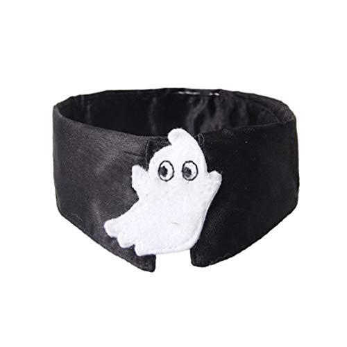1997LM Schwarze Halloween-Kostüm-Haustier-Geist-Krawatte Haustier-Welpen-Katze Halloween-Geist-Krawatte (Geist Halloween Katze Kostüm)