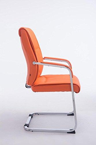 CLP XXL Freischwinger-Stuhl mit Armlehne ANUBIS belastbar bis 260 kg gepolstert orange