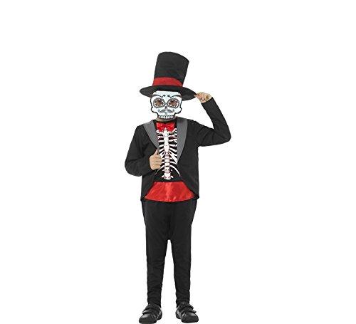 n Tag der Toten Kostüm, Jacke, Oberteil, Hose, Hut und Maske, Alter: 10-12 Jahre, 45189 ()