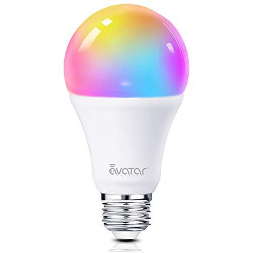 Bombilla Wifi Inteligente, Alexa LED Multicolor Lampara E27 7W RGBW 910lm sin Necesidad de hub Compatible con Google Home IFTTT by Avatar Controls (1 paquetes)