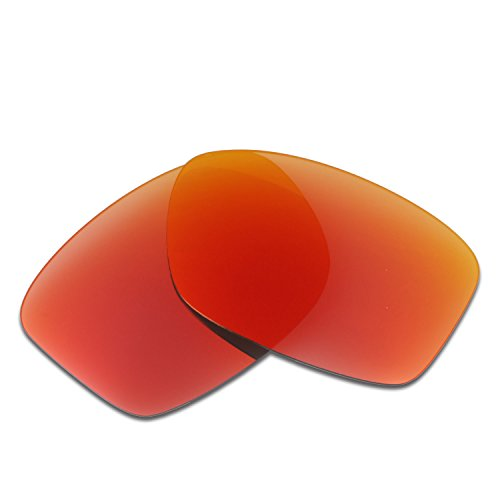 HKUCO Plus Mens Replacement Lenses For Oakley Jupiter Squared Sunglasses Red Polarized