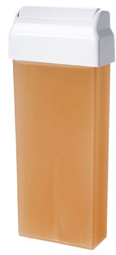 Wachspatrone NATURAL wasserlöslich Zuckerpaste für die Enthaarung mit Vliesstreifen großer Roller 100 ml