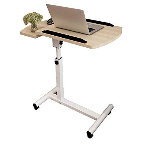 LXQGR Laptoptisch, Höhenverstellbar Notebooktisch Notebookständer Laptopständer Beistelltisch Pflegetisch Betttisch mit 4 Rollen und Bremsen -