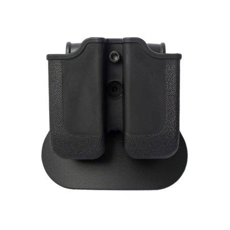 IMI Defense Z2050 Doppelmagazintasche verstellbar drehbar drehung Double Magazine Polymer Pouch für Heckler und Koch H&K USP .45 and H&K 45C, Sig Sauer P250 .45 ACP, Sig Sauer P227, Taurus .45 ACP 24/7 OSS, 1911 .45 double stack magazine -