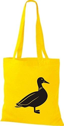 Shirtstown Stoffbeutel Tiere Ente Gelb
