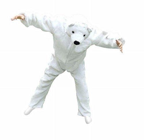 F24 XL Eisbären Kostüm, Für hochgewachsene Männer und Frauen!, in der Größe XL , Für hoch gewachsene Männer und Frauen! Eisbär Kostüme als besonderes Faschingskostüm für den Fasching (Bär Kostüme Männer)