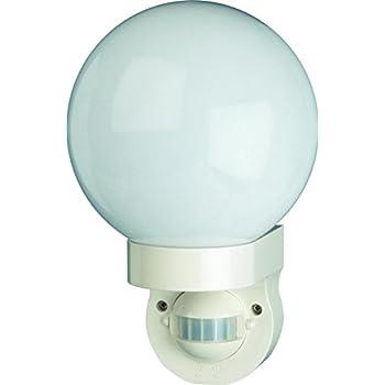 elro es162 applique globe avec d tecteur de mouvement blanc luminaires et eclairage. Black Bedroom Furniture Sets. Home Design Ideas