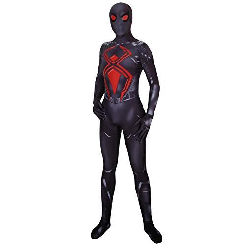 QQWE PS4 Spiderman Cosplay Black Battle Suit Kostüm Rollenspiel Kleidung Body Spandex ()