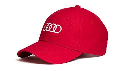 Audi original Unisex Baseballkappe (Rot)