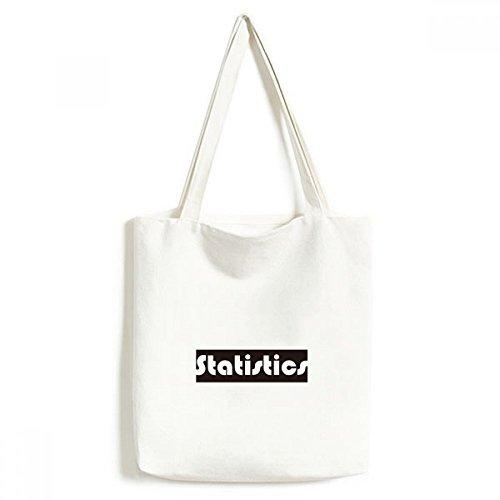 Natürlich und Major Statistiken schwarz Leinwand Tasche Umweltfreundlich Tote groß Geschenk Kapazität Einkaufstaschen