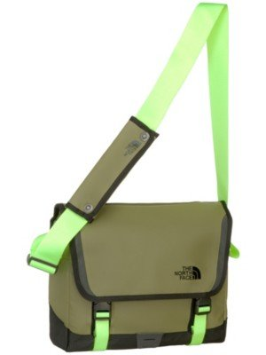 The North Face - Base Camp Borsa Messenger - Burnt Olive Verde/Safety Verde-Small
