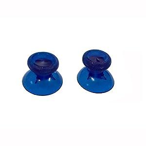OSTENT 6 x farbenfrohen Analog Stick Cap Ersatz kompatibel für Microsoft Xbox One Controller – klar blau