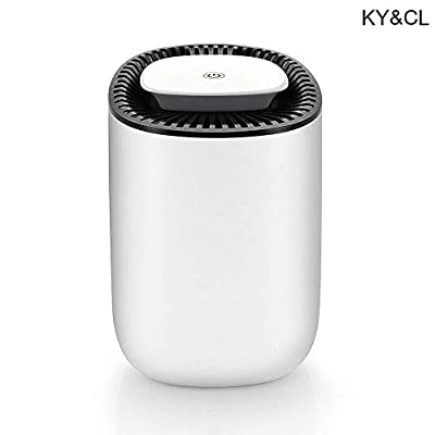 KY&cL Mini Air Dehumidifier, Auto Shut-Off, Ultra Quiet Dehumidifier with LED Indicator, Portable Dehumidifier for Small Spaces, Closets, Small Bedroom, Office