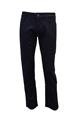 Hattric Hunter Jeans Hose mit Stone Used-Effekten. (W36/L32, Blau (Rinse Wash 99))