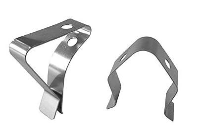 TFA Dostmann Clips für Grill-Bratenthermometer, zur Befestigung des Temperaturfühlers, aus Edelstahl