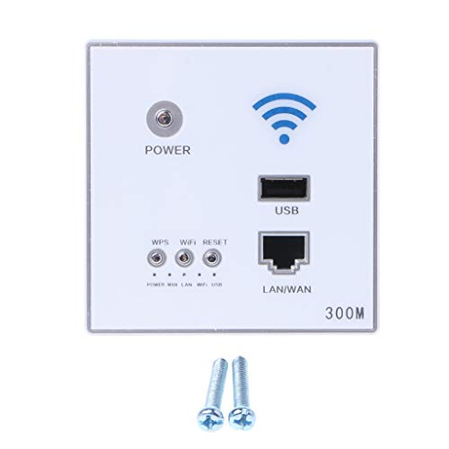 WDTong 300 MBit/s Wireless AP Router-Wand Eingebetteter WLAN-Repeater mit/LAN-Switch/USB-Ladegerät