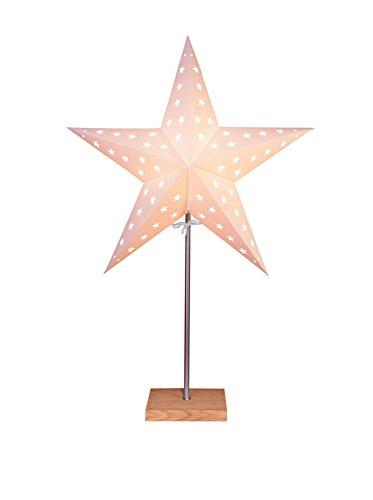 """Bestseason Stehlampe\""""Star\"""" beige/braun 60 x 43 cm"""