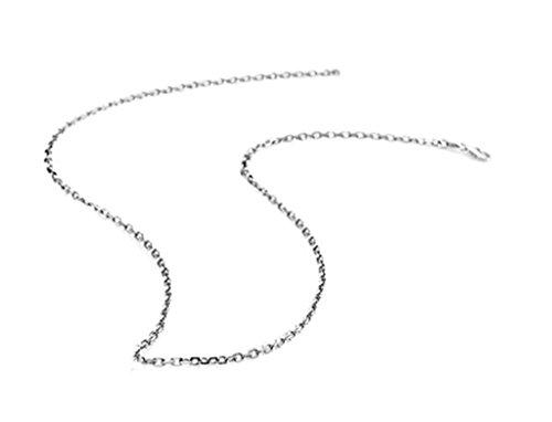 Ciondoli per Collane Donna Placcato Oro Bianco Argento Batch Angle Catena Acciaio 20 Inch Da (Triangolo Due Orecchini Tono)