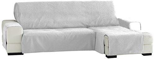 Eysa Zoco salva divano con penisola 240 cm. Poliestere-Cotone, Bianco