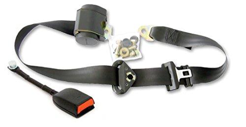 KLARA SEATS 3 Punkt Automatikgurt Universal Sicherheitsgurt 3700mm mit Gurtpeitsche schwarz (Gurt-extender)