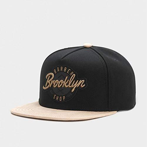 WYKDA Marke Brooklyn Cap Schwarz Einstellbare Hip Hop Hysteresenhut Für Männer Frauen Erwachsene Headwear Outdoor Casual Sun Baseball Cap