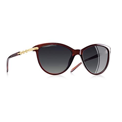 AOFLY Klassisch Polarisiert Katzenauge Sonnenbrille für Damen UV400 Schutz