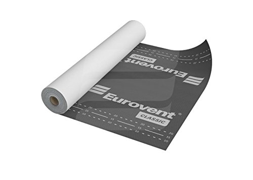 Eurovent Breathable Roof Membrane/Felt - 1.5m x 50m (75 SQ/M) - 120 G/SM - Free Next Day UK Delivery - Large Discount on Multi Pack (1) by Eurovent