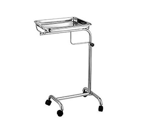 Trolleys Edelstahl-medizinischer Behälter-Halter Vertikaler Aufzug-chirurgischer Behälter-Halter Einzelne Pole/Doppelte Pfosten-Behälter Chirurgisches Fach (Farbe : Single Pole)