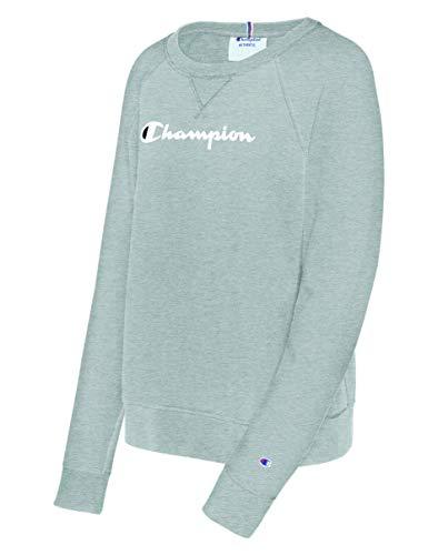 Champion Damen Heritage French Terry Crew Sweatshirt, Oxford Gray, 4X - Crew Sweatshirt Oxford