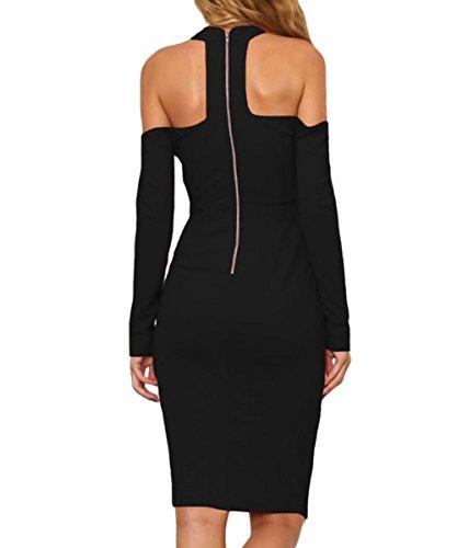 Dissa S1161208 femme Sexy Robe de soirée Noir