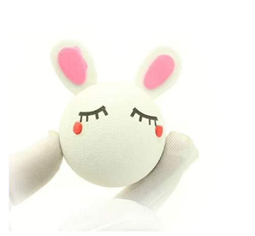 dvfgsxxht Antennenkugel außen Cartoon Auto Schaum Ball Spiegel Dangler für Auto Dekoration Spielzeug, White Rabbit, 5 cm