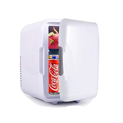 4 Liter Kleiner Mini-Kühlschrank mit Kühl- und Gefrierfach, Heizung, Kühlbox für Speisen und Getränke, für Auto, Camping, Picknick, Strand, Reisen, Büros, Studentenwohnheim,White (Reise-kühlschrank Mit Gefrierfach)