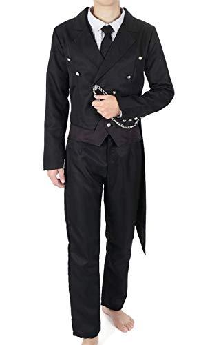 CoolChange Black Butler Cosplay Kostüm von Sebastian Michaelis, inkl. Frack, Weste, Hose, Hemd, Größe: M (Cosplay Kostüm Black Butler)