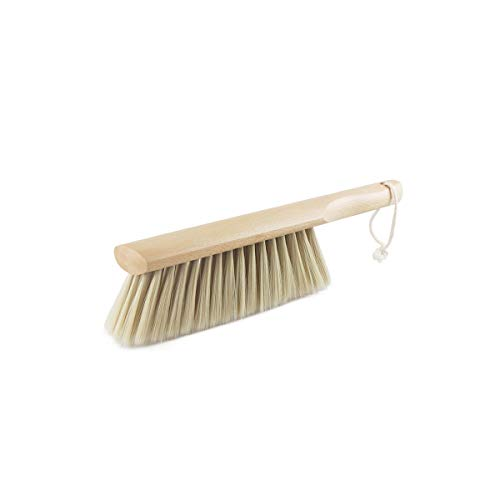 Kuqiqi Cepillo de la Escoba del hogar, Escoba Linda Grande antiestática del Cepillo del Polvo de la Cama del Dormitorio del Pelo, artefacto de Limpieza, Color Natural Cepillo de Mesa de Barrido,