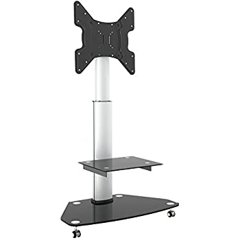 Portrait Landscape View Tv Floor Stand With Wheels