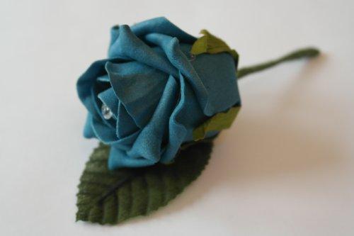floristikvergleich.de shimmer-hj 5blaugrün Hochzeit Knopflöcher, mit Daimante Pins